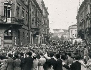 Львов приветствует Красную Армию, 1939 г.