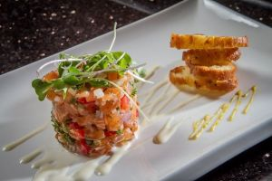 Salmon Tartar with arugula