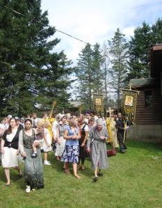 Крестный ход  в скиту, 2009 г.