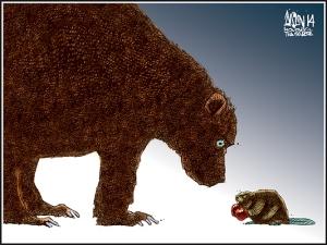 Карикатура Эйслина в монреальской The Gazette, 18 ноября 2014