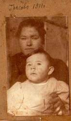 С няней в имении Брасово. 1911