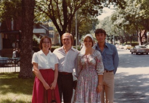 C девушкми Русской Школы, 1979 г.