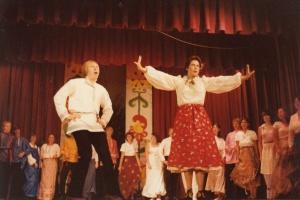На Славянском фестивале. Танец с Любой Афанасенко