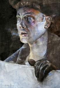 Впередсмотрящий Фредерик Флит. 14 апреля 1912, 23 часа 35 минут. Oil on wood, 36 x 24 inch, 2012