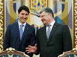 Трюдо и Порошенко в Киеве