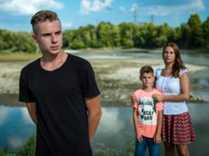 Владислав Задорожный с братом и матерью
