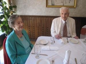 Ираина Борисовна и Павел Ильич Миклашевский. Ресторан Эрмитаж, 23 апреля 2011