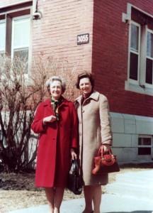 Мать и дочь. Монреаль, улица Шербрук, 1979 г.