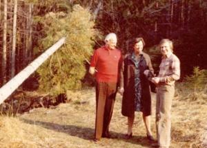 С Францем Шоттером на прогулке под Веной, 1976 г.