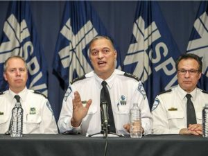Шеф монреальской полиции дает объяснения